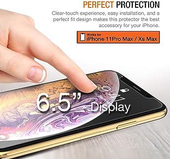 """Trianium (3 Packs) Screen Protector Designed for Apple iPhone 11 Pro Max, iPhone XS Max (6.5"""" 2018) Premium HD Clarit..."""