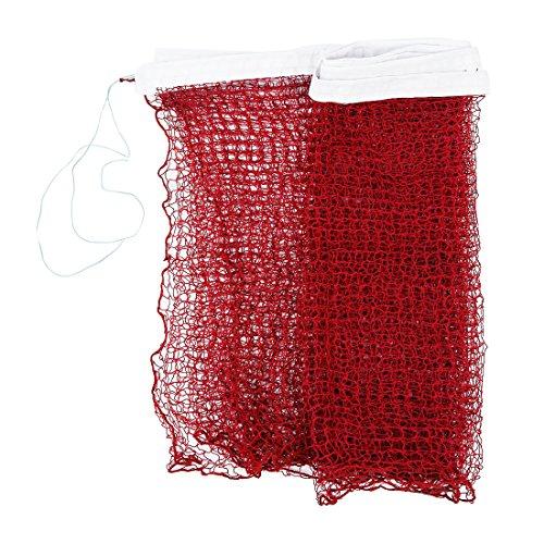 TOOGOO Red de badminton trenzada de estandar de entrenamiento profesional 6,0m x 0,75m Dobladillo blanco