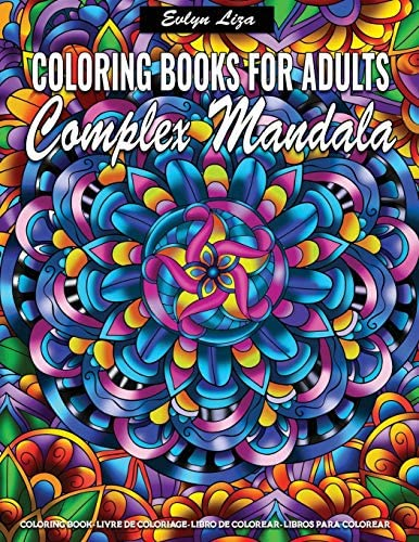 Complex Mandala Coloring Books for Adults Relaxing Coloring Books for Adults Featuring Complex product image