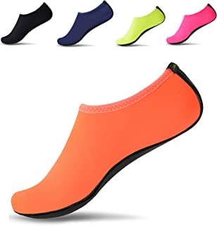 JACKSHIBO Men Women Quick-Dry Water Skin Shoes Aqua Socks Water Sports Swim Surf Yoga Exercice Beach