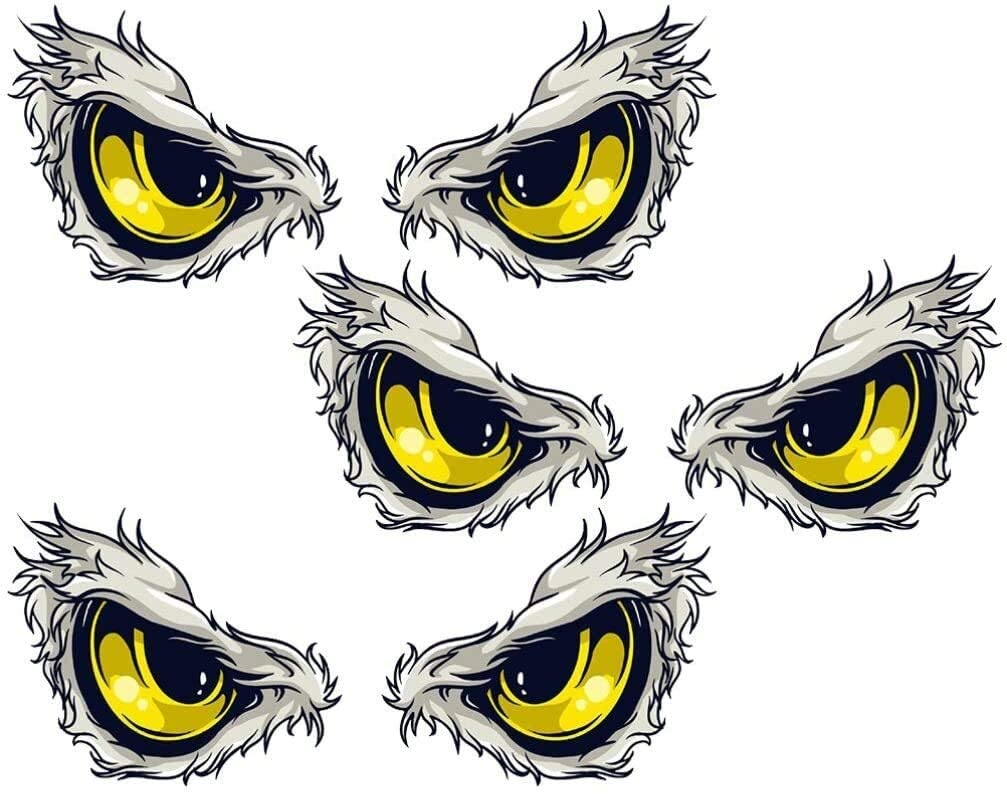 JUZZQ 3Pcs Personalized Selling rankings Eagle Eye sold out Decorations Sticker Car Decals