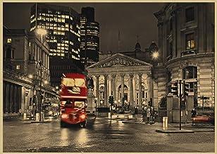 Londen Rode Klassieke Poster Bar Cafe Woonkamer Restaurant Decoratie Muurschildering Zonder Frame50X70Cm P2568
