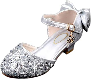 85376e782f7f xzbailisha Girls Kids Summer Heel Princess Sandals Glitter Butterfly Shoes  for Party Dress Wedding Party