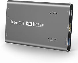 KeeQii 4K Capture Card,3.0 Video Capture Card,Hdmi Capture Card,Game Capture Card with 60fps for Live Broadcasts Video Rec...