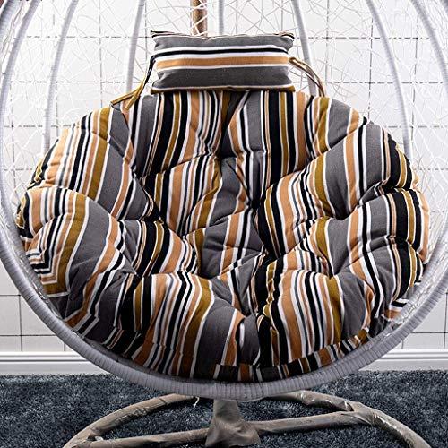 Yuany Garden Patio rotan schommelstoel rieten hangstoel hangstoel hangmat kussen voor binnen of buiten, 105cm lang (kleur: A)