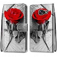Laybomo Samsung Galaxy A5 (2017) / A520F ケース カバー 手帳型, [カードスロット]および[キックスタンド]付きの磁気閉鎖完全保護設計ウォレットフリップ 財布型カバー対応 Galaxy A5 (2017) / A520F電話ケース, 塗る 4
