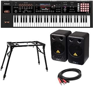 ROLAND FA-06 Music Workstation シンセサイザー BEHRINGER MS16 モニタースピーカー 4本脚型スタンド 付き