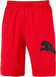 "PUMA Men's Ess Big Cat Woven Shorts 10"" Fs, Flame Scarlet"