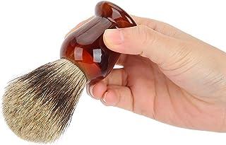 Scheerkwast, Professionele Pure Badgers Haarcrème Zeepborstel Bruin handvat, Perfecte baardreinigingsborstel voor mannen