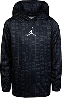 Jordan Air Youth Boys' Dri Fit Accolades All Over Print Dri-Fit Pullover Hooded Top Shirt Size M, L