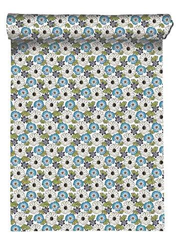 Linum Bouquet Tischläufer 45x150 C62 sommerblau
