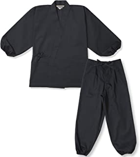 【日本製】 袖・裾ゴム式T/Cバーバリー織作務衣 和粋庵特製巾着付き