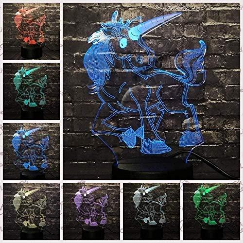 Baby Spielzeug Lámpara LED 3D de luz nocturna RGB, bombilla decorativa de Navidad