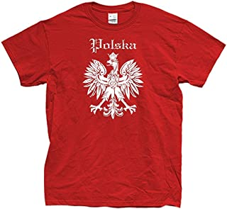 Nouveau la Pologne coupe du monde 2018 Memorabilia T-Shirt-Rétro Polska Football Top