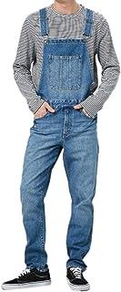 Cicilin Men's Denim Bib Overalls Dungarees Streetwear Suspender Pants Jeans