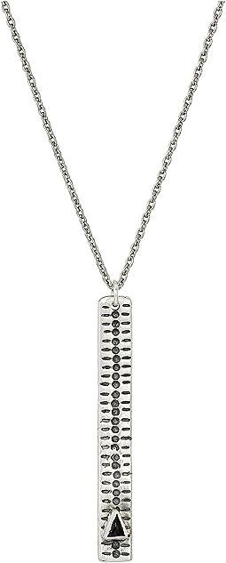 Chan Luu - Sterling Silver Necklace w/ Sterling Drop Bar & Semi Precious Stone
