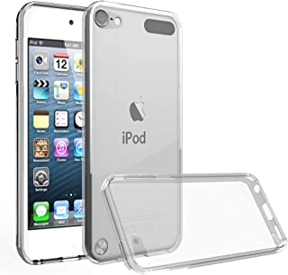 LuckQR for iPod Touch 5 / iPod Touch 6 Phone Case, Soft TPU Bumper and Hard PC Back Case Anti-Scratch Shock Absorption, Crystal Clear Phone Cover for Apple iPod Touch 5th / 6th Generation - Clear