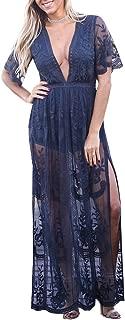 Best blue lace maxi dress Reviews