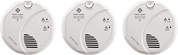 First Alert BRK SC7010B-3 Hardwired Smoke and Carbon Monoxide (CO) Detector with Battery Backup, 3-Pack