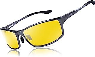 عینک دید در شب Bircen برای رانندگی ، عینک رانندگی شبانه ضد انفجار Al-Mg برای مردان و زنان