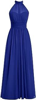 TalinaDress Women Chiffon Halter Long Bridesmaid Dresses Wedding Party Gown E062LF