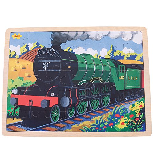 Bigjigs Toys Flying Scotsman Wooden Tray Puzzle - 35 Piece Puzzle