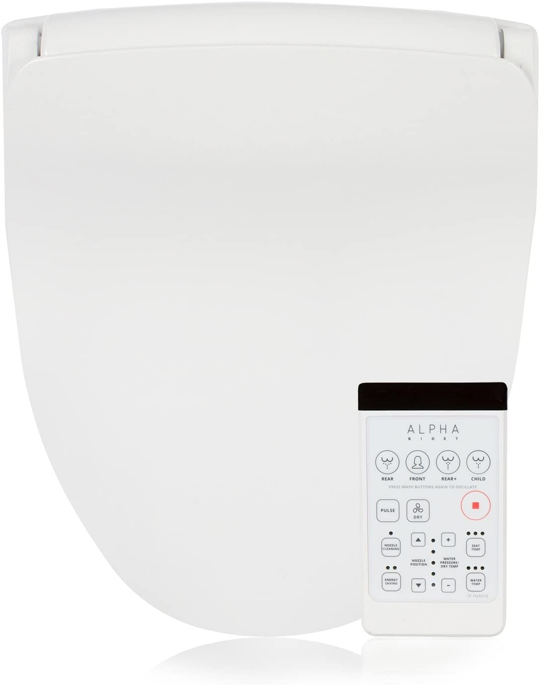 Alpha iX Hybrid Bidet Toilet Seat in Elongated White