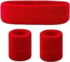red sweatband set