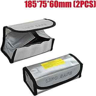 Fireproof LiPo Battery Bag RC Toy Drone Battery Safe Bag, LiPo Battery Storage Bag, 185 x 75 x 60 mm (2 PCs)