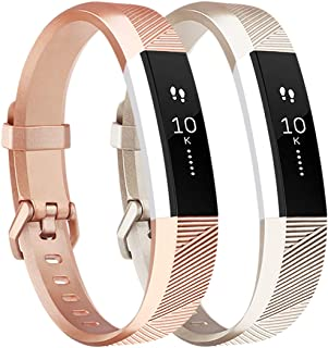 Tobfit Waterproof Sport Bands Compatible with Alta/Alta HR/Ace Bands, Soft TPU Replacement Wristbands with Metal Secure Buckle for Women Men