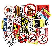 ステッカーセット 禁止標識 禁止マーク warning 食品 防水 スーツケース/自転車/ヘルメット/パソコン/ラップトップ/スケートボード/ノート 車シール 車ステッカー 50枚セット