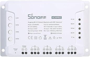 Btuty 4CH PRO R3 Switch inteligente Wi-Fi de 4 grupos com controle de RF Módulo de chave de automação residencial de 4 via...
