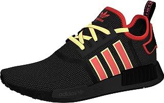 Men's NMD_r1 Shoe, Black/Shock red/Yellow, 5 M US