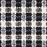 Fabulous Fabrics Bouclé Seemannsgarn – schwarz/Weiss —