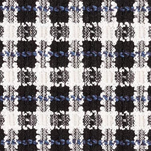 Fabulous Fabrics Bouclé Seemannsgarn – schwarz/Weiss — Meterware ab 0,5m — zum Nähen von Blazer, Jacken und Röcke
