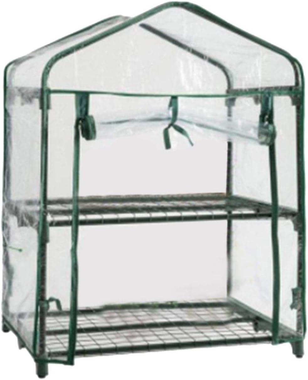 EKDJKK Mini Greenhouse Transparent PVC Portable Over item handling ☆ Small Don't miss the campaign Gree Cover