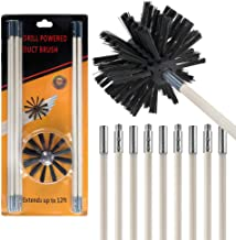 ITidyHome 12 Feet Flexible Dryer Vent Brush Cleaning Kit,Synthetic Brush Head,Lint Remover,9 Rods and 1 Brush Head