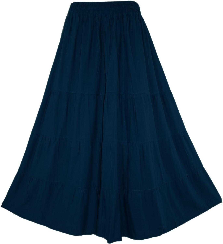 内祝い Beautybatik Women Boho Gypsy Long Peasant Maxi おしゃれ Skirt Tiered Plus
