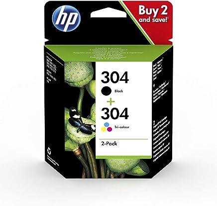 HP 304 Multipack Original Druckerpatronen (Schwarz, Farbe) für HP DeskJet , 2er Packung