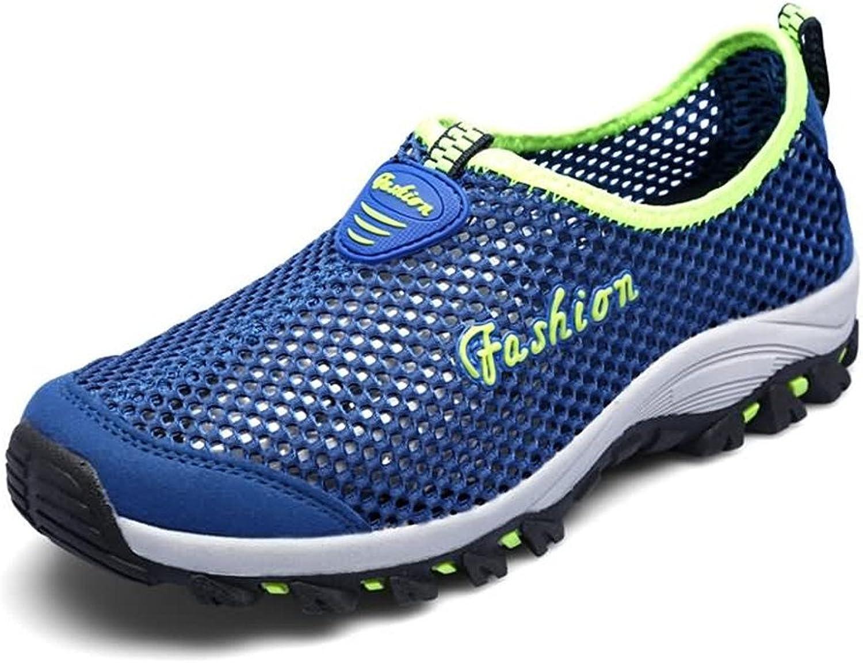 Battle Men Women and Men's Flat Heel Hollow Fashion Sneaker Fashion (color   bluee, Size   3 D(M) US Little Kid)