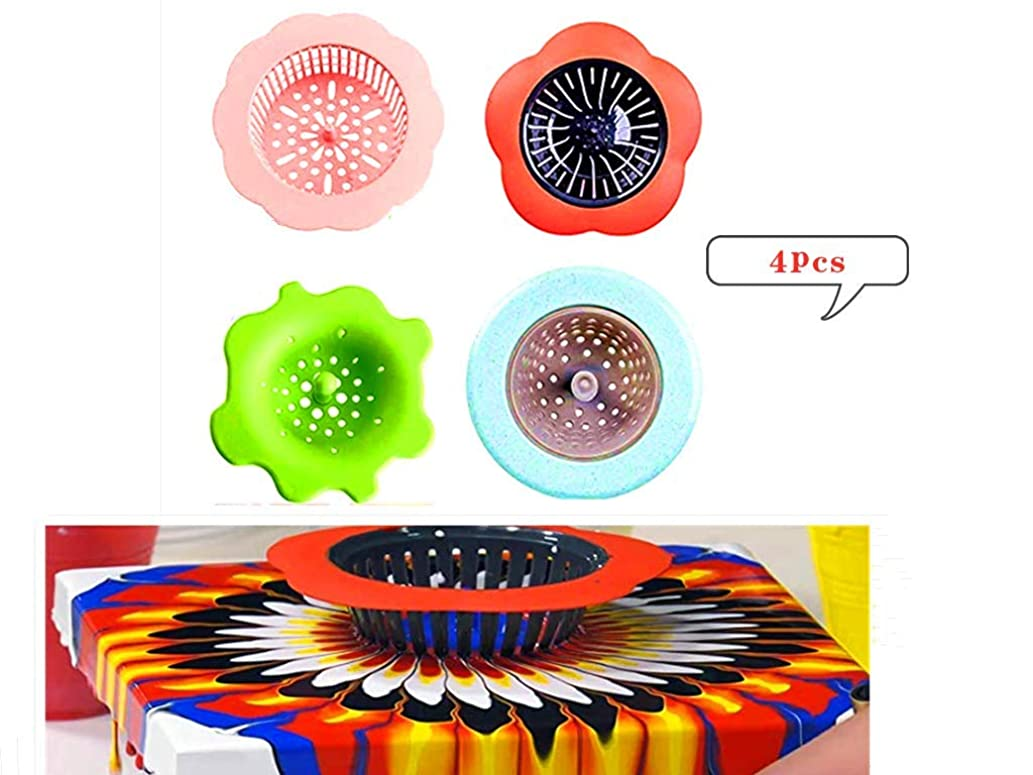 Twelve Dollar Shop 4 Pieces Acrylic Pouring Strainers Plastic Silicone Strainer Flower Drain Basket Acrylic Paint Pouring Supplies