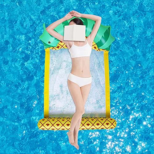 MiiDD Wasser Luftmatratze,Aufblasbare Riesen Ananas Hängematte,Schwimmbecken Schwimmbett,Schwimmer Loungesessel