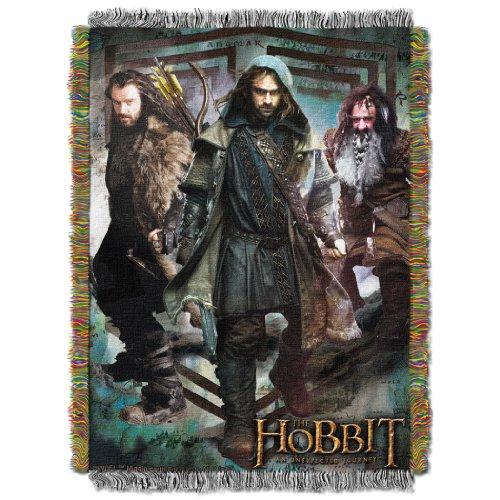 Northwest Company Warner Brothers acrílico Tapiz Manta, 48por 152.4cm, el Hobbit Que Lucha