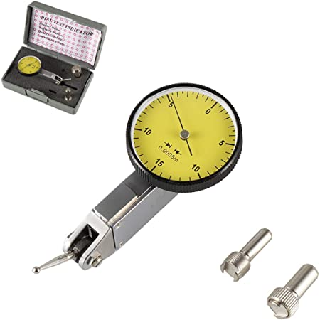 """.030/"""" Dial Test Indicator High Precision 0.0005/"""" Graduation 0-15-0 White Face US"""