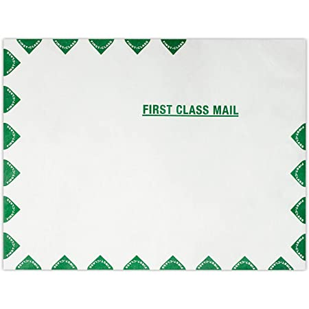Columbian Envelopes 10 x 13-Inch First Class Mail White Envelopes Made with Dupont Tyvek Material COLO806 100 Count