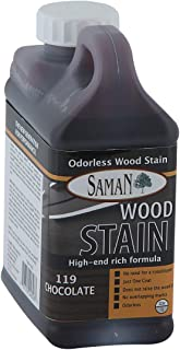 SamaN Interior Water Based Stain for Fine Wood, Chocolate, 1 Quart