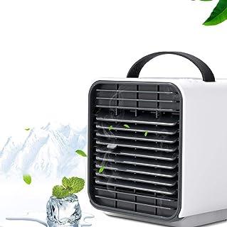 FDHB Climatizadores Evaporativos Velocidades para Hogar Mini Ventilador De Aire Acondicionado Purificación Portátil Refrigeración Ventilador De Aire Acondicionado USB