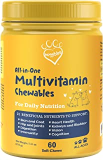 All-in-1 Dog Multivitamins and Supplement | Fish Oil, Iron, Calcium, Vitamin E, C & B12 | Joint, Immune, & Vision Support ...