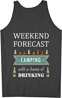 Camping With A Chance Of Drinking おかしいです Camper Holiday 男性用 Tank Top Sleeveless Shirt