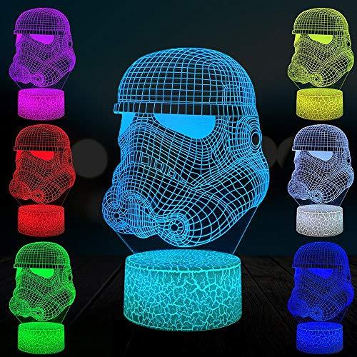 SYYUIN Luces de Navidad 3D regalos de vacaciones 16 colores despertador luz de noche altavoz bluetooth luz de humor Personaje de pelicula LED 3D NightLight Lámpara de noche Luz Luminary Lights Decora